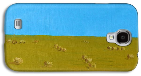 Haybales Paintings Galaxy S4 Cases - Hay Harvest Galaxy S4 Case by Tom Amiss