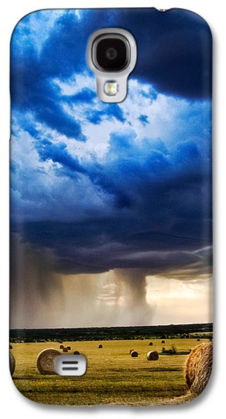 Rain Storms Galaxy S4 Cases - Hay in the Storm Galaxy S4 Case by Eric Benjamin