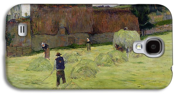 Haymaking In Brittany Galaxy S4 Case by Paul Gauguin