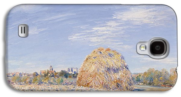 Haystack On The Banks Of The Loing Galaxy S4 Case by Alfred Sisley