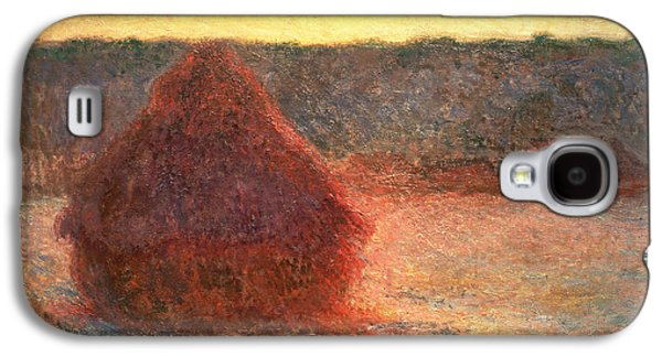 Haystacks At Sunset Galaxy S4 Case by Claude Monet