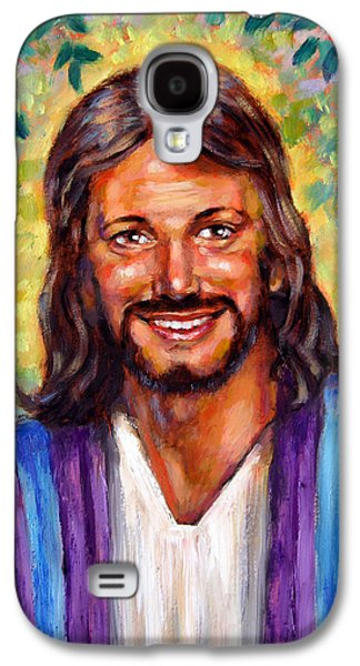 Smiling Jesus Galaxy S4 Cases - He Smiles Galaxy S4 Case by John Lautermilch