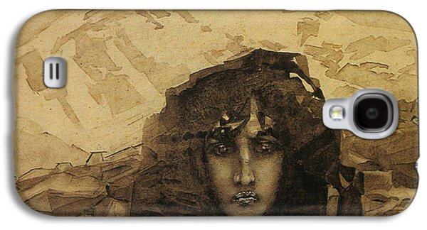 Woman Head Galaxy S4 Cases - Head of a Demon Galaxy S4 Case by Mikhail Aleksandrovich Vrubel