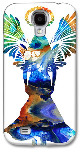Halo Galaxy S4 Cases - Healing Angel - Spiritual Art Painting Galaxy S4 Case by Sharon Cummings