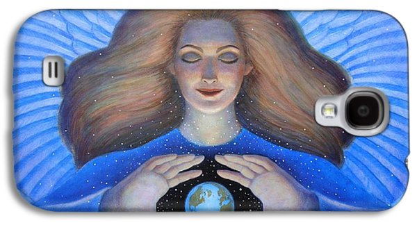 Goddess Paintings Galaxy S4 Cases - Heart of Creation Galaxy S4 Case by Sue Halstenberg