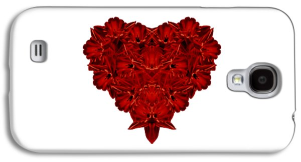Flower Design Photographs Galaxy S4 Cases - Heart of Flowers T-shirt Galaxy S4 Case by Edward Fielding