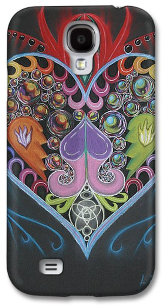 Fractal Pastels Galaxy S4 Cases - Heart of Laniakea Galaxy S4 Case by Laurie Penrod