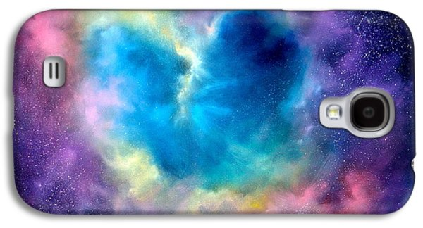 Galaxies Galaxy S4 Cases - Heart of the Universe Galaxy S4 Case by Sally Seago