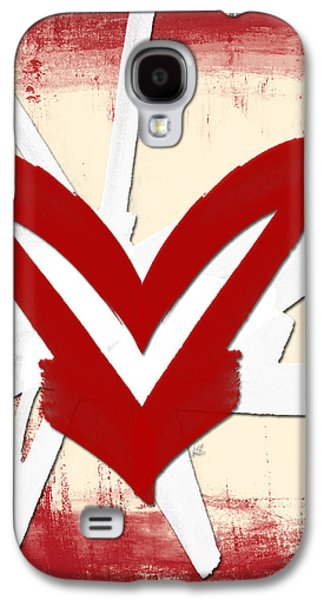 Abstract Digital Mixed Media Galaxy S4 Cases - Hearts for Hearts 23 Galaxy S4 Case by Melissa Smith