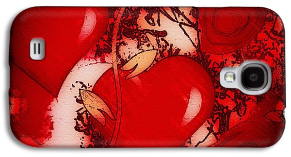 Colorful Abstract Galaxy S4 Cases - Hearts Of Fire Galaxy S4 Case by Caroline Gilmore