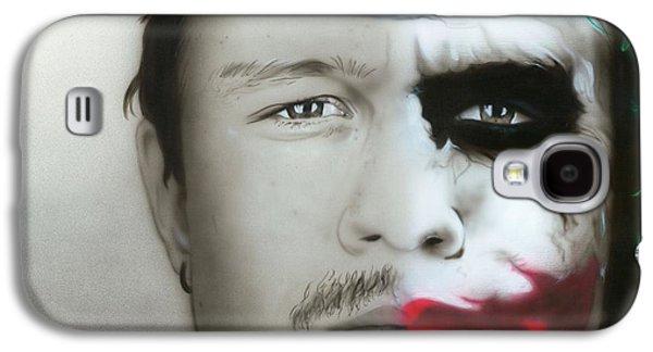 ' Heath Ledger / Joker ' Galaxy S4 Case by Christian Chapman Art