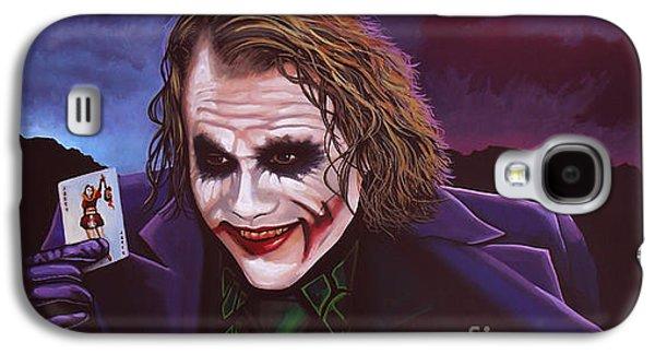 Heath Ledger As The Joker Painting Galaxy S4 Case by Paul Meijering