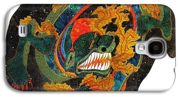 Fantasy Tapestries - Textiles Galaxy S4 Cases - Heating Up the Cosmos Galaxy S4 Case by Lynda K Boardman