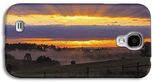 Heavens Glow Walker Church Road Sunrise Galaxy S4 Case by Reid Callaway