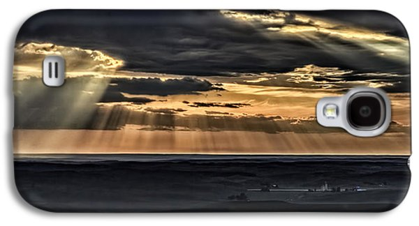 Sun Galaxy S4 Cases - Heavens Rays Over The Palouse Galaxy S4 Case by Wes and Dotty Weber