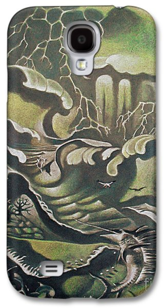 Abstract Seascape Pastels Galaxy S4 Cases - Heavy Water Galaxy S4 Case by Gary Renegar