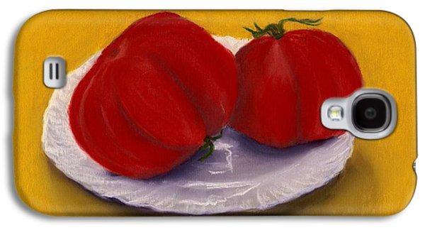 Still Life Pastels Galaxy S4 Cases - Heirloom Tomatoes Galaxy S4 Case by Anastasiya Malakhova