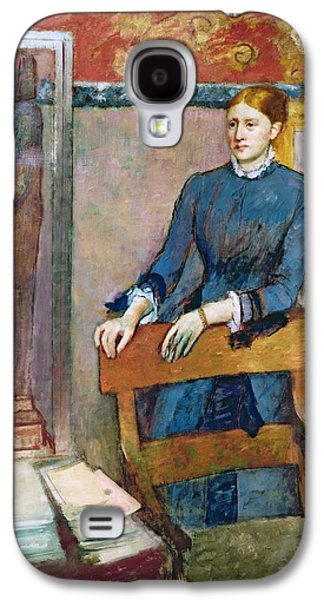 Chair Pastels Galaxy S4 Cases - Helene Rouart Galaxy S4 Case by Edgar Degas