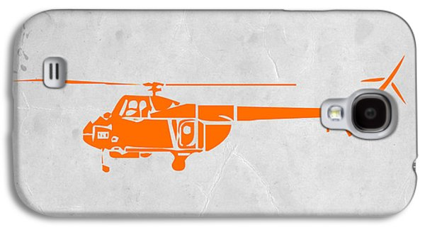 Design Paintings Galaxy S4 Cases - Helicopter Galaxy S4 Case by Naxart Studio