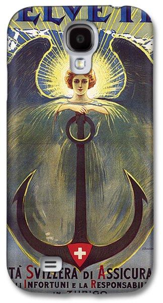 Helvetia Poster Galaxy S4 Case by Umberto Boccioni