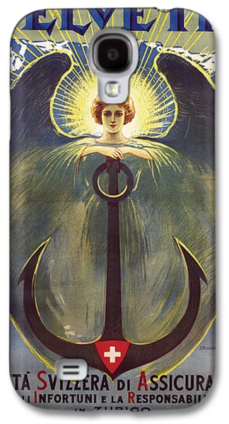 Swiss Drawings Galaxy S4 Cases - Helvetia Poster Galaxy S4 Case by Umberto Boccioni
