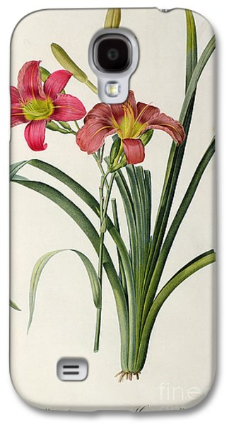 19th Galaxy S4 Cases - Hemerocallis fulva Galaxy S4 Case by Pierre Joseph Redoute