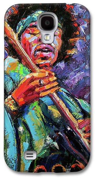 Jimi Hendrix Paintings Galaxy S4 Cases - Hendrix Galaxy S4 Case by Debra Hurd
