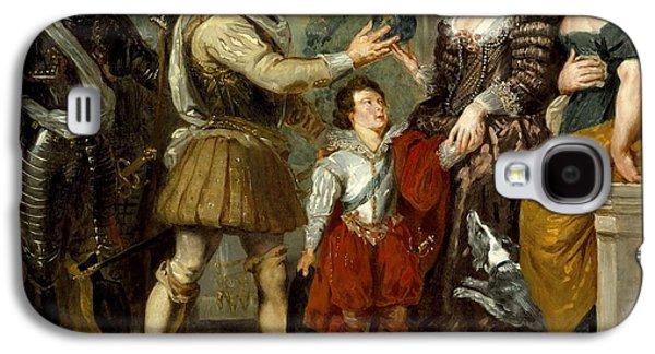 Delacroix Galaxy S4 Cases - Henri IV Conferring the Regency upon Marie de Medici Galaxy S4 Case by Eugene Delacroix