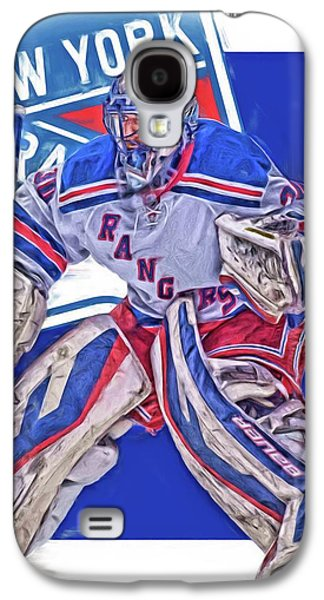 Henrik Lundqvist New York Rangers Oil Art Galaxy S4 Case by Joe Hamilton