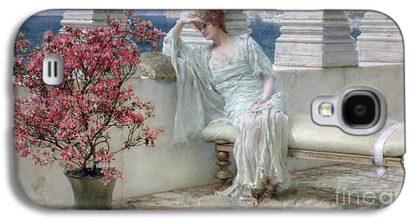 Her Eyes Are With Her Thoughts And They Are Far Away Galaxy S4 Case by Sir Lawrence Alma-Tadema