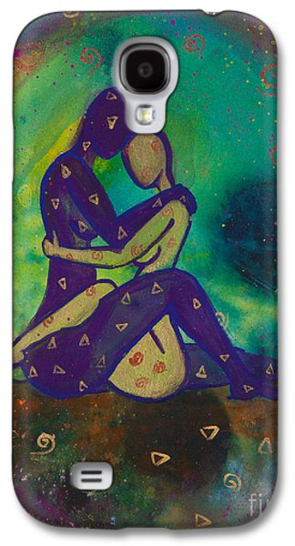 Lesbian Galaxy S4 Cases - Her Loves Embrace Divine Love Series No. 1006 Galaxy S4 Case by Ilisa  Millermoon