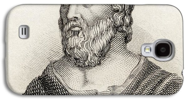 Weeping Drawings Galaxy S4 Cases - Heraclitus Of Ephesus Aka The Obscure Galaxy S4 Case by Ken Welsh