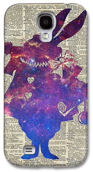 Constellations Drawings Galaxy S4 Cases - Herald Purple Rabbit Galaxy S4 Case by Jacob Kuch
