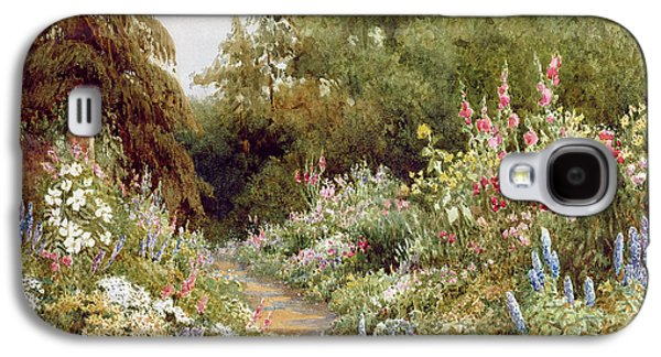 Herbaceous Border  Galaxy S4 Case by Evelyn L Engleheart