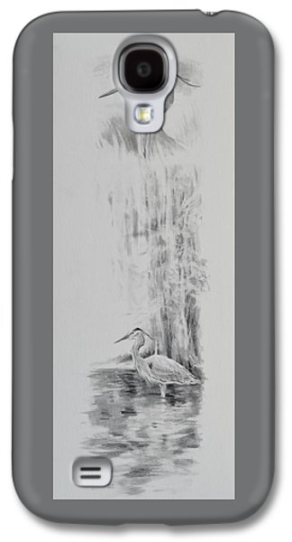 Drawing Galaxy S4 Cases - Heron Galaxy S4 Case by Jim Young