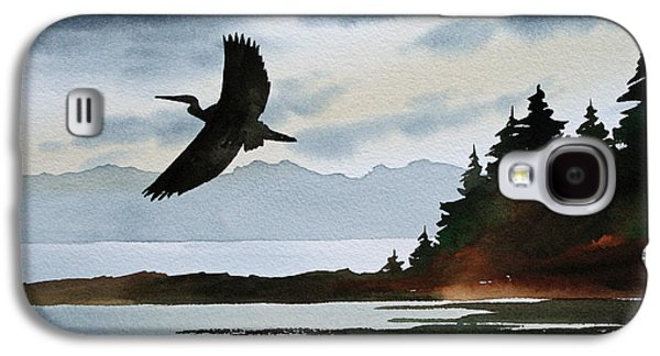 Heron Silhouette Galaxy S4 Case by James Williamson
