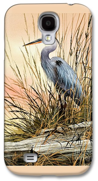 Heron Paintings Galaxy S4 Cases - Heron Sunset Galaxy S4 Case by James Williamson