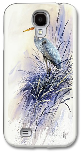 Heron Paintings Galaxy S4 Cases - Herons Grace Galaxy S4 Case by James Williamson