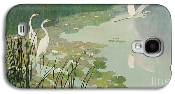 Herons In Summer Galaxy S4 Case by Newell Convers Wyeth
