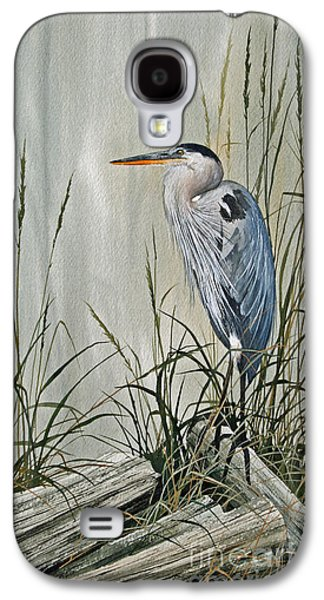 Heron Paintings Galaxy S4 Cases - Herons Quiet Rest Galaxy S4 Case by James Williamson