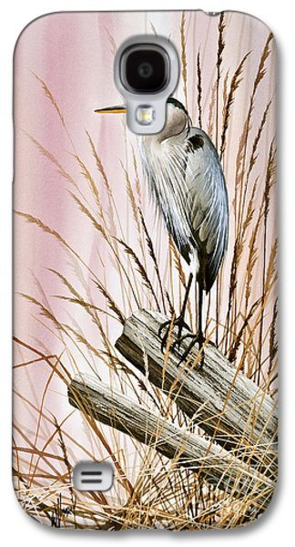 Heron Paintings Galaxy S4 Cases - Herons Watch Galaxy S4 Case by James Williamson