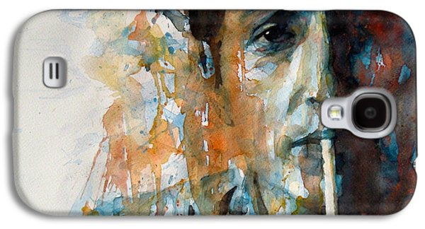 Bob Dylan Paintings Galaxy S4 Cases - Hey Mr Tambourine Man @ Full Composition Galaxy S4 Case by Paul Lovering