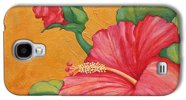 Waterscape Galaxy S4 Cases - Hibiscus Rhapsody Galaxy S4 Case by Sharon Nelson-Bianco