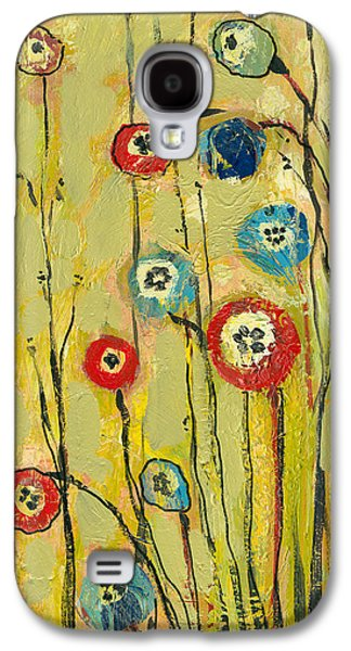 Green Modern Galaxy S4 Cases - Hidden Poppies Galaxy S4 Case by Jennifer Lommers