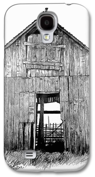 Old Barn Drawing Galaxy S4 Cases - Hide Out Galaxy S4 Case by William Kelsey