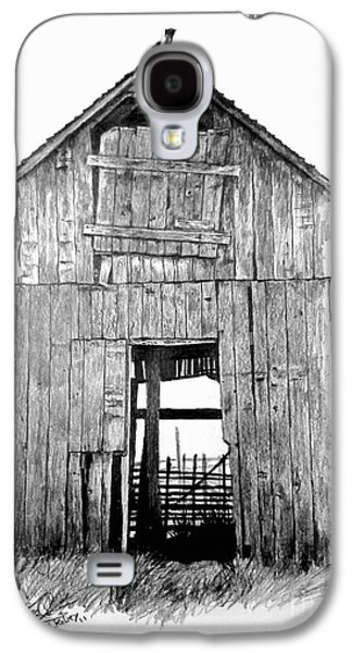 Old Barn Drawing Drawings Galaxy S4 Cases - Hide Out Galaxy S4 Case by William Kelsey