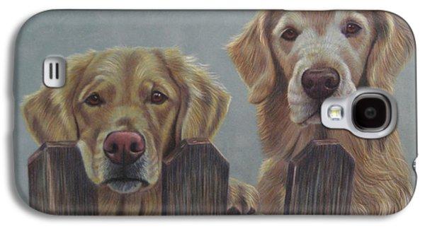 Fence Drawings Galaxy S4 Cases - HiDeHo Neighbor Stan Galaxy S4 Case by Debbie Stonebraker