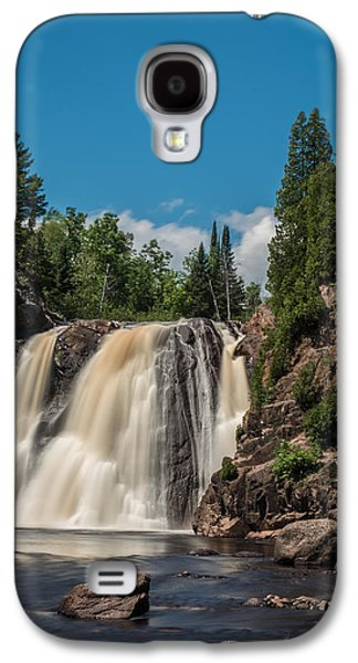 Landscape Acrylic Prints Galaxy S4 Cases - High Falls of Tettegouche State Park 4 Galaxy S4 Case by Bill Bucu