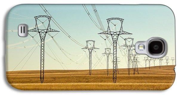 High Voltage Power Lines Galaxy S4 Case by Todd Klassy