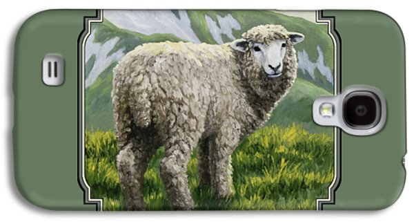 Scotland Paintings Galaxy S4 Cases - Highland Ewe Galaxy S4 Case by Crista Forest